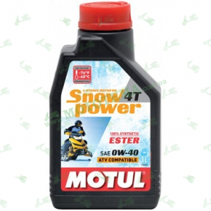Масло Motul Snowpower 4T 0W40 Ester 1 литр