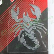 Наклейка Scorpion (большая), хром MOTOTECH