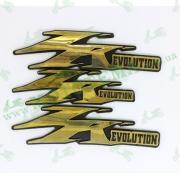Наклейка JOG ZR(evolution) золотистая