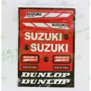 Наклейка Suzuki, красная MOTOTECH