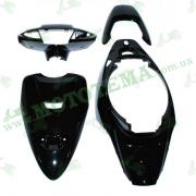 Комплект пластика HONDA DIO AF-34 (крашенный черный)