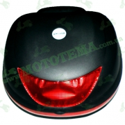 Кофр для мотоцикла (багажник) (420*360*290мм) FXW HF-997 Черный мат