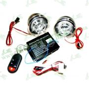 Динамики музыкальные USB-MP3 + сигнализация + FM Radio(прозрачный корпус динамиков, с диодами)