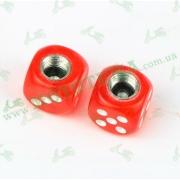 Колпачки кубики на ниппель колеса (красные) 'AS'