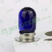 Лампа фары СИНЯЯ  Т-19 P15D-25 12V35/35W 3 лепестка