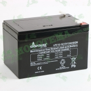 "Аккумулятор 12V 12Ah (АКБ тяговая) 150x95x98 LPС12-12 DZM ""GASPOWER"""