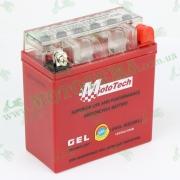 Аккумулятор гелевый MOTOTECH 12N5L-BS (высокий) ACTIVE  (Длина 118мм,ширина 59мм,высота 128мм)