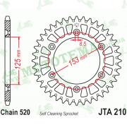 Звезда задняя JTA210 48-520 алюминиевая