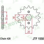 Звезда передняя JTF1550 14-428