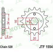Звезда передняя JTF1554 13-520