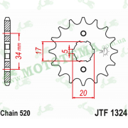 Звезда передняя JTF1324 12-520