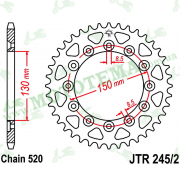 Звезда задняя JTR245/2 42-520
