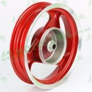 Диск заднего колеса легкосплавный  R12 2,5 (красный, барабанный тормоз)
