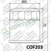 Масляный фильтр CHAMPION COF203