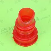 Патрубок воздушного фильтра  DIO  (силиконовый, красный)