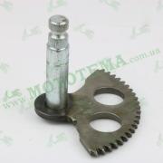 Полумесяц кикстартера (заводной сектор) 2T TB50, Suzuki RUN (L-71mm) 'STEEL MARK'
