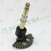 Полумесяц кикстартера (заводной сектор) L-147mm (+пружина, втулка) GY6 125-150cc