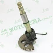 Полумесяц кикстартера (заводной сектор) L-153mm (+пружина, втулка) GY6 125-150cc
