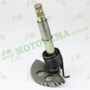 Полумесяц кикстартера (заводной сектор) L-157mm (+пружина, втулка) GY6 125-150cc