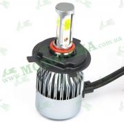 Лампа фары диодная 12V 18W-32W 4000K 3000LM (три кристалла)