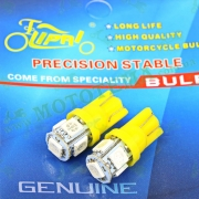Лампа поворотников диодная 5 кристалов 2шт. T15 безцокольная (жёлтая) 'LIPAI'