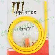 Шланг топливный 4mm, 1 метр, с фильтром (желтий) 'MONSTER ENERGY'
