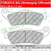 Колодки тормозные FERODO FDB2018 SG Sintergrip (Offroad)