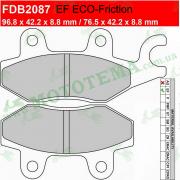 Колодки тормозные FERODO FDB2087 EF ECO-Friction
