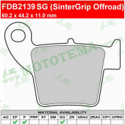 Колодки тормозные FERODO FDB2139 SG (SinterGrip Offroad)