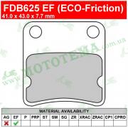 Колодки тормозные FERODO FDB625 EF ECO-Friction