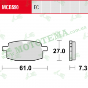 Колодки тормозные TRW LUCAS MCB590