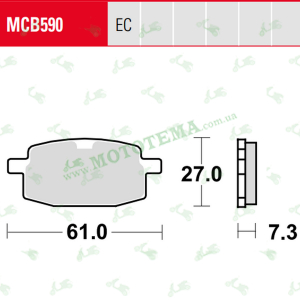 Колодки тормозные TRW LUCAS MCB590 Organic