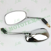 Зеркала хром, пластик, капля (L+R к-т)  --  Invader, Daytona