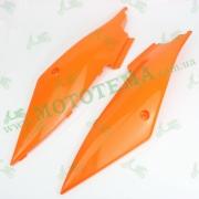 Пластик - боковины под сиденьем  (задняя часть) L+R оранжевые --  X-Road