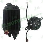 Радиатор охлаждения с кулером (левый) Lifan LF150-10B