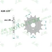 Звезда ведущая (428*14) Lifan LF150-10S