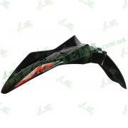 Крыло переднее чёрное, пластик Loncin LX250GY-3 SX2 340310657-0012