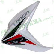 Пластик бензабака ЛЕВЫЙ белый Loncin JL150-68A CR1 340020073-0044