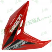 Пластик бензабака ЛЕВЫЙ красный Loncin JL150-68A CR1 3340020073-0043