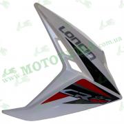 Пластик бензабака ПРАВЫЙ белый Loncin JL150-68A CR1 340030068-0044