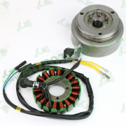 Генератор (статор и магнит в сборе) 12V 3.5A Loncin JL200-68A CR1S 270010266-0002
