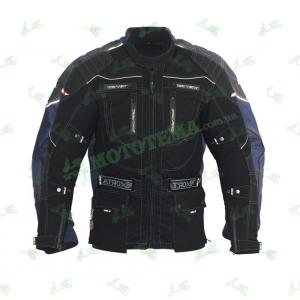Мотокуртка длинная текстильная черная ATROX NF-7126
