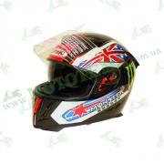 Шлем (интеграл) Ataki FF311 Monster черный глянцевый    S