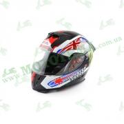 Шлем (интеграл) Ataki FF311 Monster черный глянцевый  L