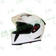 Шлем (интеграл) Ataki FF311 Solid белый глянцевый    S