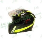 Шлем (интеграл) Ataki FF311 Trace черный/желт. глянцевый    S