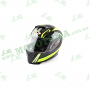 Шлем (интеграл) Ataki FF311 Trace черный/желт. глянцевый   M