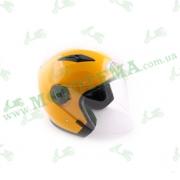 Шлем (открытый со стеклом) Ataki OF512 Solid желтый глянцевый    S