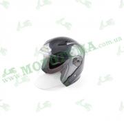 Шлем (открытый со стеклом) Ataki OF512 Carbon черный/серый глянцевый    S