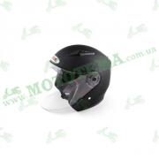 Шлем (открытый со стеклом) Ataki OF512 Solid черный матовый    S